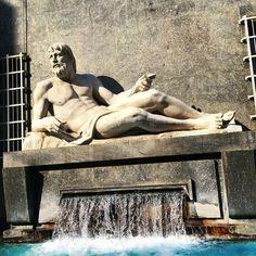 #architecture #fontana #fontana del po #fountain #italia #italy #monument #piazza cln #po #po fountain #statue #torino #turin