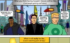 Google Glasses - see the future