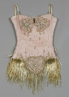 Details of Nicole Kidman's Pink Diamonds costume from the film Moulin Rouge.