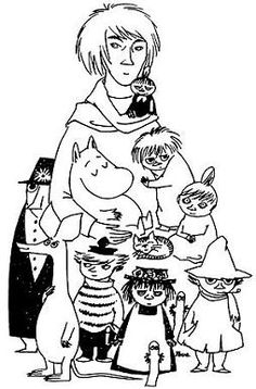 MOOMINS & with novelist, painter, illustrator and comic strip author Tove Marika Jansson (1914-2001)