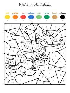 ausmalbild malen nach zahlen: halloween: kürbisse ausmalen kostenlos ausdrucken | malen nach