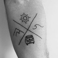 This tattoo reminds me of summer. Tag 4 friends you'd get a matching tattoo with! Credit: @fletcherratkins