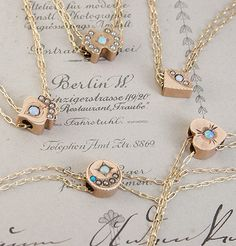 Victorian Era Opal Slide Necklaces, $325.00 each.  Valentines day is coming up, just sayin