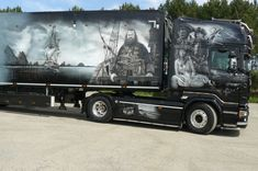 Show Trucks, Rc Trucks, Scania V8, Airbrush Art, Air France, Murals, Graphics, Paint, Tv