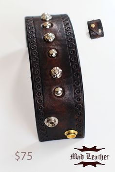 Brown Distressed Leather Cuff  http://www.etsy.com/shop/madleather