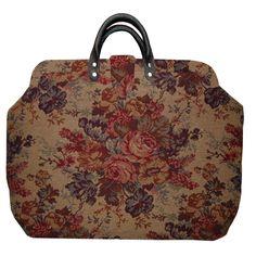Floral Tapestry Carpet Bag