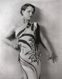 Louise Brooks - atypical hairstyle and unusual dress.  1920's
