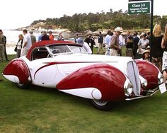1937 Delahaye 135 MS Figoni & Falaschi Cabriolet.  via Art Deco FB