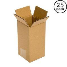 ebeb501169f Plain Brown Box 6 in. x 6 in. x 12 in. 25-