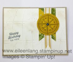 Eileen's Stamping Corner: Going Global - Masculine Birthday Card