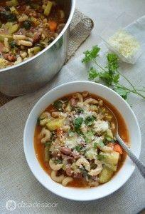 Sopa minestrone sopa italiana www.pizcadesabor.com