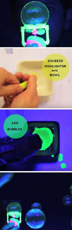 Make Glow in the Dark Bubbles | Things to Do When Bored with Friends
