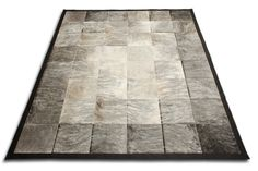 B New gray brindle & white patchwork area rug design cowhide leather carpet 160