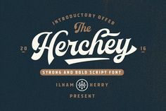 Herchey Script - 50% off by ilhamherry on @creativemarket