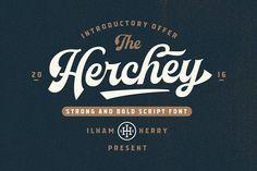 Herchey Script - 50% off by ilhamherry on @creativemarket