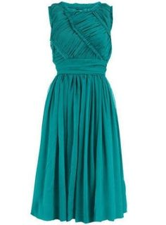 BNWT Ladies Dorothy Perkins Green Ruched 50 s Dress UK 8 RRP £65!