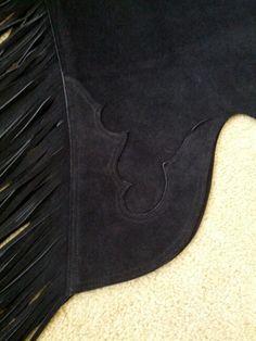 Western Show Chaps on Facebook - cuff design on plain black chaps