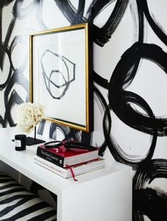 Peonies and Brass: trend spotting: treating your walls like a canvas