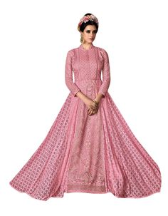 Pink embroidered wed