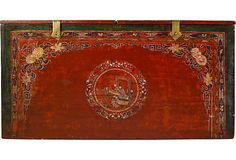 19th-C. Mongolian Painted Trunk on OneKingsLane.com