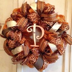 Image result for deco mesh fall wreath ideas