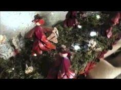 Presepe fatto con le foglie, presepe dentro a una televisione in Friuli Venezia Giulia - YouTube #presepifvg