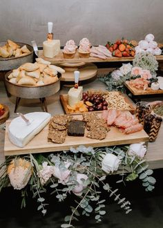 Rustic Food + Sweet Table from a Glam Floral Baby Shower on Kara's Party Ideas Baby Shower Brunch, Baby Shower Table, Boho Baby Shower, Floral Baby Shower, Girl Shower, Baby Showers, Baby Shower Neutral, Paris Baby Shower, Classy Baby Shower