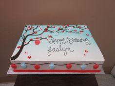 very simple, beautiful sheet cake