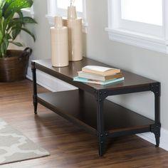 Belham Living Trenton Indoor Bench with Storage Shelf | from hayneedle.com