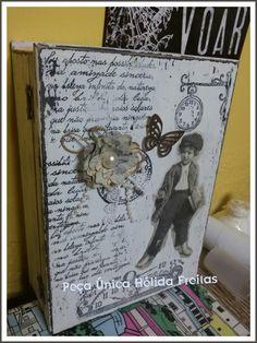 Caixa livro vintage