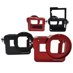 Sport Camera Case Soft Silicone Shockproof Cover Protective For Go Pro Hero 5 Camera Case With Lens Cap Accessories Set Street Price Accessories & Parts Hot