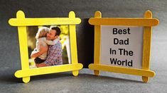 Fathers Day Frames, Homemade Fathers Day Gifts, Fathers Day Photo, Frame Crafts, Best Dad, The Creator, Photo Gifts, Gift Ideas, Easy