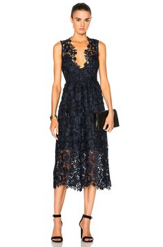 Image 1 of Kate Sylvester Esther Dress in Ink Lace