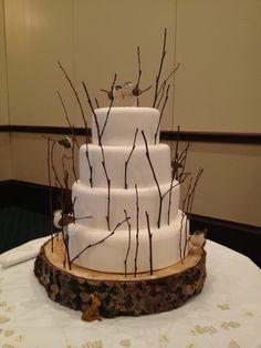 woodland cakes | Woodland themed wedding cake! » contemporarycakesni.com