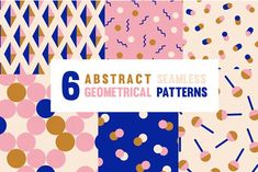 Abstract Geometrical Modern Patterns by margaritse on @creativemarket