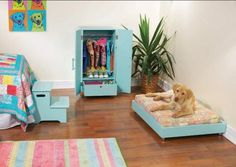 Dog Bedroom With Bed And Dresser