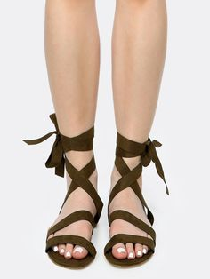 Shop Vegan Suede Tie Up Sandals OLIVE online. SheIn offers Vegan Suede Tie Up Sandals OLIVE & more to fit your fashionable needs.