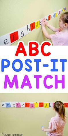 Easy Post-It Matching Activity #busytoddler #toddler #toddleractivity #easytoddleractivity #indooractivity #toddleractivities #preschoolactivities #homepreschoolactivity #playactivity #preschoolathome