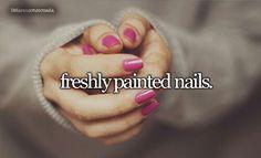 Tumblr Little Reasons To Smile: Freshly Painted Nails | #Tumblr #LittleReasonsToSmile