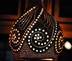 Su Kabağından Lamba Yapımı - Abajur ve Avize - Süs Kabağı | Türk el sanatları ve hobiler