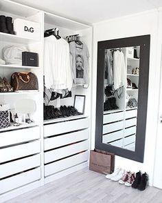 Walk In Closet Design, Bedroom Closet Design, Closet Designs, Bedroom Decor, Ikea Bedroom, Wardrobe Room, Wardrobe Ideas, Wardrobe Organisation, Organization