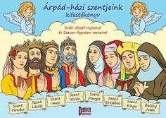 Árpád házi Szentek kifestőkönyv Bible Activities, Religion, Comic Books, Comics, Fictional Characters, Montessori, Art, Craft Art, Kunst