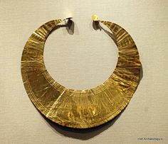 An Early Bronze Age gold lunula from Killarney, Co. Kerry, it dates from c. 2000 BC