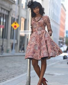 Robe imprimée africain - « Jackie O Dress »