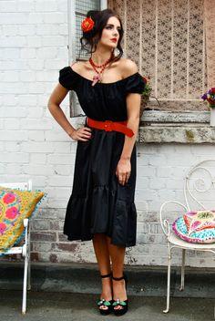 vintage gypsy senorita style 'Sophia Dress' by Tara Starlet www.tarastarlet.com