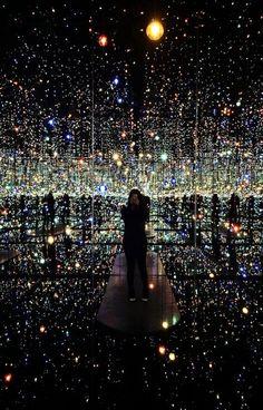 Yayoi Kusama's 'Infinity Mirrored Room - The Souls of Millions of Light Years Away' light art installation