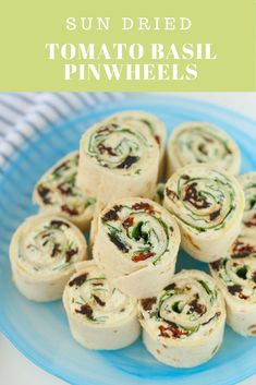 Creamy Sun Dried Tomato Basil Pinwheels are perfect for picnics, potlucks, road trips or snacking at home! No cooking, just a delicious snack in 5 minutes!