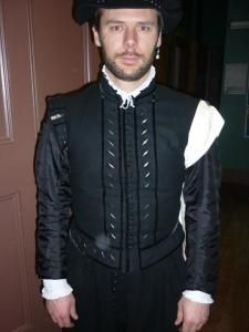 1560's wool and silk slashed doublet