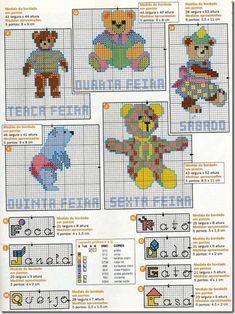 ursinhos bears ponto cruz cross stitch