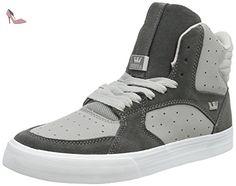 Supra  VAIDER 3000, Baskets hautes mixte adulte - Gris - Grau (LIGHT GREY / GREY - OFF WHITE   GRY), 42.5 EU - Chaussures supra (*Partner-Link)